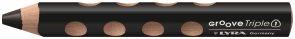 Pastelka Lyra GROOVE 3v1, trojhranná, černá