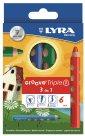 Sada pastelek Lyra GROOVE 3v1, trojhranná, 6 ks