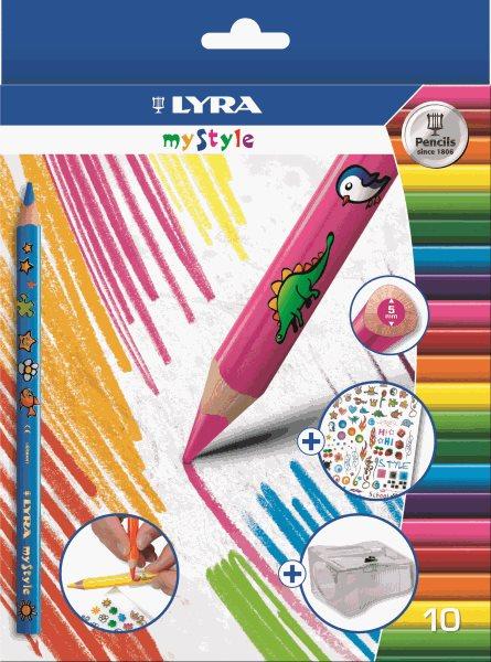 Sada pastelek Lyra My Style JUMBO, trojhranné, 10 ks