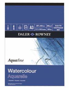 Akvarelový blok Daler Rowney - papír s texturou A3, 12 listů