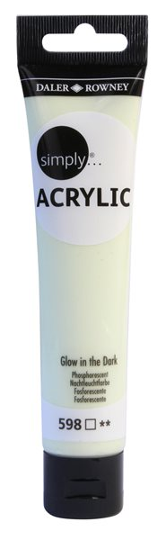 Akrylová barva Simply 75 ml - svítící ve tmě