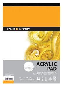 Akrylový blok Daler Rowney - šepsovaný papír A4, 16 listů