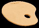 Paleta Daler Rowney - dřevěná , ovál