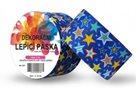 Dekorační lepící páska modrá - hvězdičky