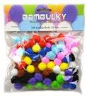 Dekorativní Pom-pom kuličky 100 ks - velikost 15 mm, barevný mix