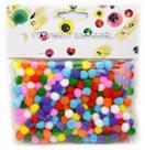 Dekorativní POM POM, barevný mix - velikost 10 mm (200 ks)