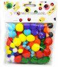 Dekorativní POM POM, mix barev a velikostí (78 ks)