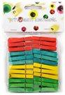 Dřevěné kolíčky - barevný mix (48 ks)