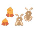 Vyřezávací šablona Bigz - Zajíček a kuřátko