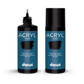 Akrylová barva DARWI ACRYL OPAK 80 ml, černá