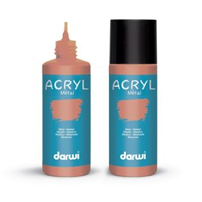 Akrylová barva DARWI ACRYL OPAK 80 ml, metalická měděná