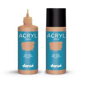 Akrylová barva DARWI ACRYL OPAK 80 ml, metalická bronzová