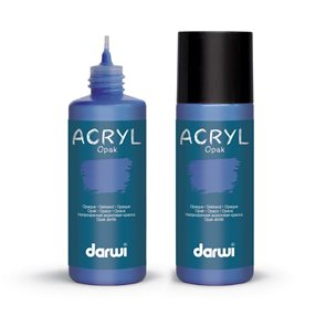 Akrylová barva DARWI ACRYL OPAK 80 ml, tmavě modrá