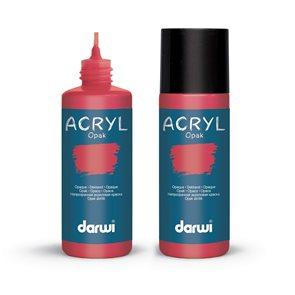 Akrylová barva DARWI ACRYL OPAK 80 ml, karmínová