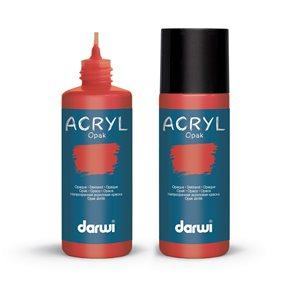 Akrylová barva DARWI ACRYL OPAK 80 ml, rumělková