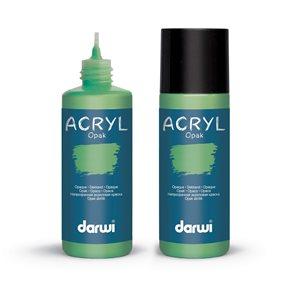 Akrylová barva DARWI ACRYL OPAK 80 ml, trávově zelená