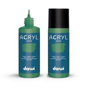 Akrylová barva DARWI ACRYL OPAK 80 ml, borovicová zelená
