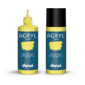 Akrylová barva DARWI ACRYL OPAK 80 ml, tmavě žlutá