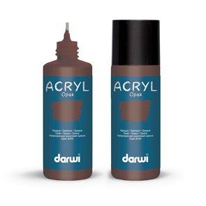 Akrylová barva DARWI ACRYL OPAK 80 ml, sienna