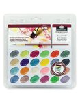 Akvarelové barvy perleťové, 24 ks + štětec + skicák