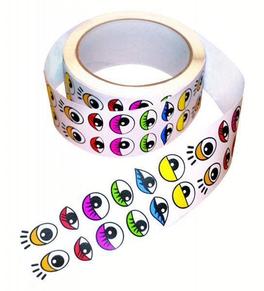 Samolepicí oči, barevné