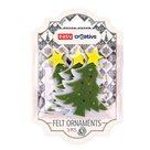 Dekorativní plstěné ozdoby - vánoční strom   3 kusy