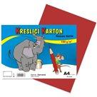 Kreslicí karton barevný A4 -180g - 50 ks - červený