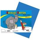 Kreslicí karton barevný A4 -180g - 50 ks - modrý