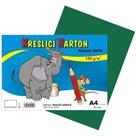 Kreslicí karton barevný A4 -180g - 50 ks - tmavě zelený