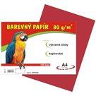 Barevný papír A4 80 g - 100 ks - červený