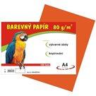 Barevný papír A4 80 g - 100 ks - oranžový