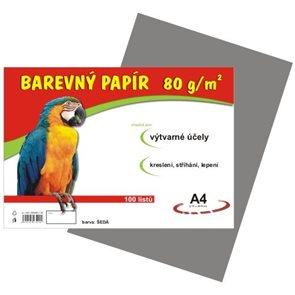 Barevný papír A4 80g - 100 ks - šedý