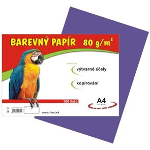 Barevný papír A4 80g - 100 ks - fialový