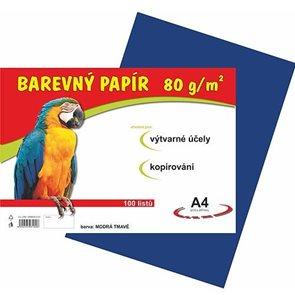 Barevný papír A4 80g - 100 ks - tmavě modrý