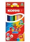 Kores Jumbo trojhranné pastelky 5 mm, s ořezávátkem - 24 barev