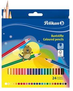 Pastelky Pelikan - 24 barev, lakované