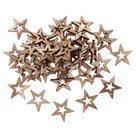 Dekorační dřevěné ozdoby - Hvězdy přírodní (50 ks)