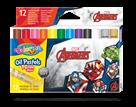 Olejové pastely Colorino, Marvel Avengers - 12 barev