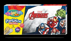 Modelovací hmota Colorino, Marvel Avengers - 12 barev