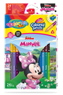 Pastelky Colorino trojhranné, Disney Junior Minnie - 24 barev