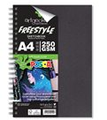 Skicák Freestyle Posca, A4 na výšku, 30 bílých listů/250 g