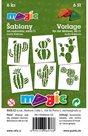 Papírové šablony - Kaktusy - 6ks