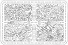 Omalovánky XXL 120 x 80 cm - Veselý mix