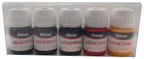 Barvy na porcelán ARMERINA - 5 x 30 ml