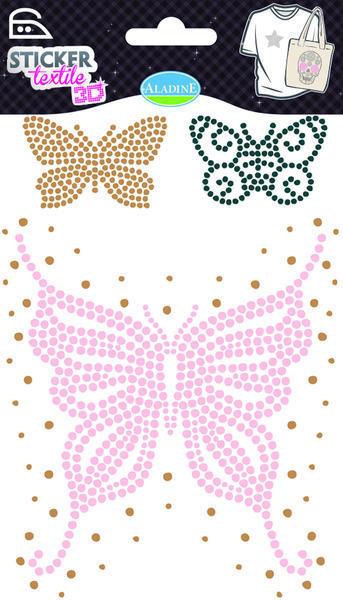 Nažehlovací nálepky na textil - 3D Motýl