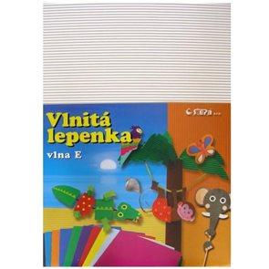 Vlnitý papír 260g - 34,5 x 24,5 cm - 10 listů - bílá