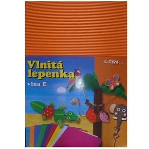 Vlnitý papír 260g - 34,5 x 24,5 cm - 10 listů - oranžová