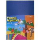 Vlnitý papír 260g - 34,5 x 24,5 cm - 10 listů - modrá