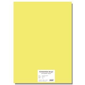 Fotokarton A4, 300g/10listů - světle žlutý