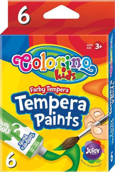 Temperové barvy Colorino 12 ml - 6 barev